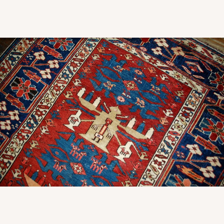 Handmade Antique Caucasian Azerbaijani Shirvan Rug - image-7