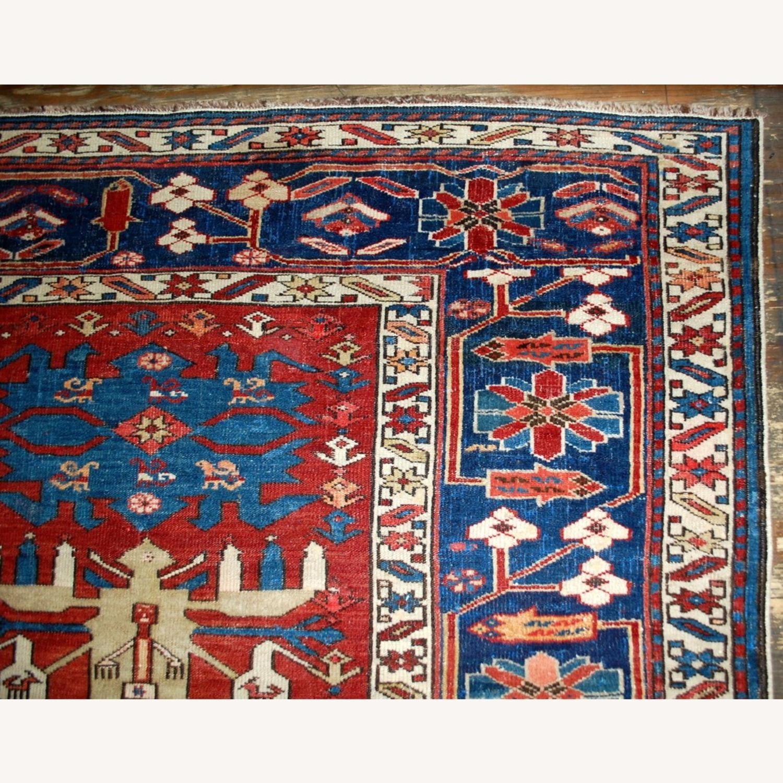 Handmade Antique Caucasian Azerbaijani Shirvan Rug - image-8