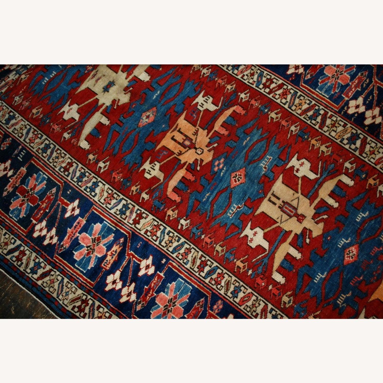 Handmade Antique Caucasian Azerbaijani Shirvan Rug - image-6