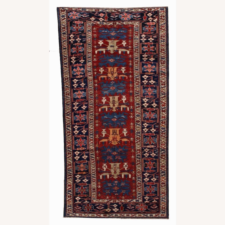 Handmade Antique Caucasian Azerbaijani Shirvan Rug - image-1
