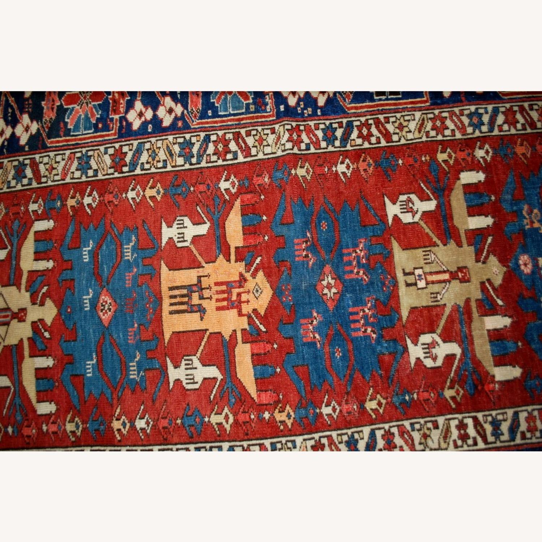 Handmade Antique Caucasian Azerbaijani Shirvan Rug - image-3