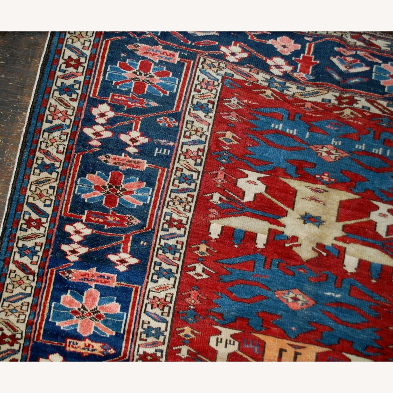 Handmade Antique Caucasian Azerbaijani Shirvan Rug - image-5