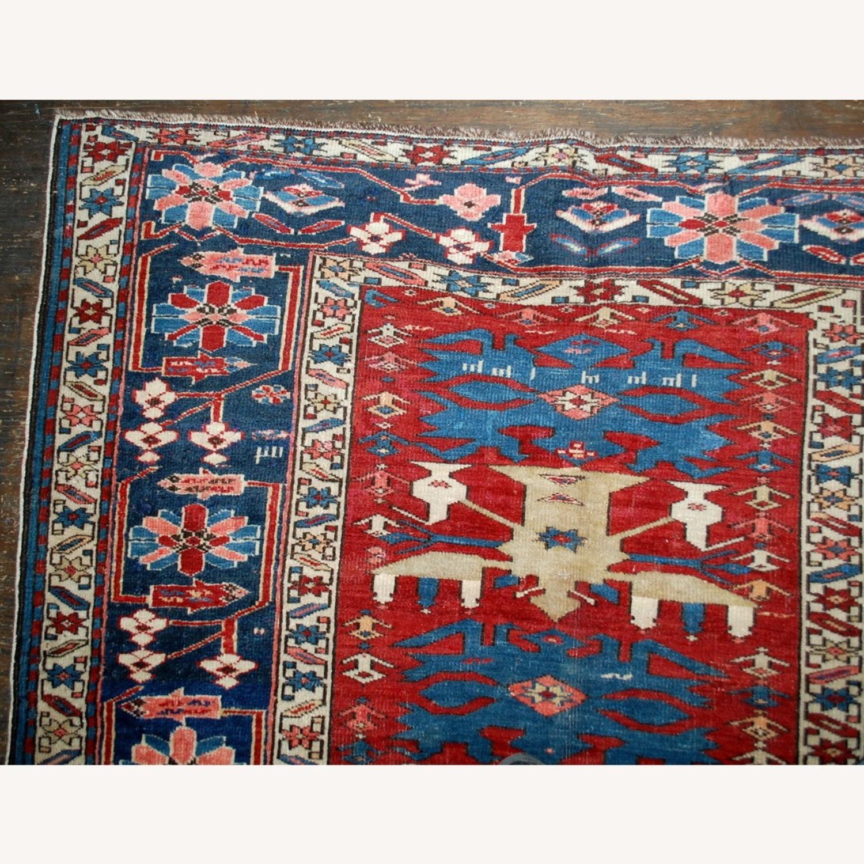 Handmade Antique Caucasian Azerbaijani Shirvan Rug - image-11