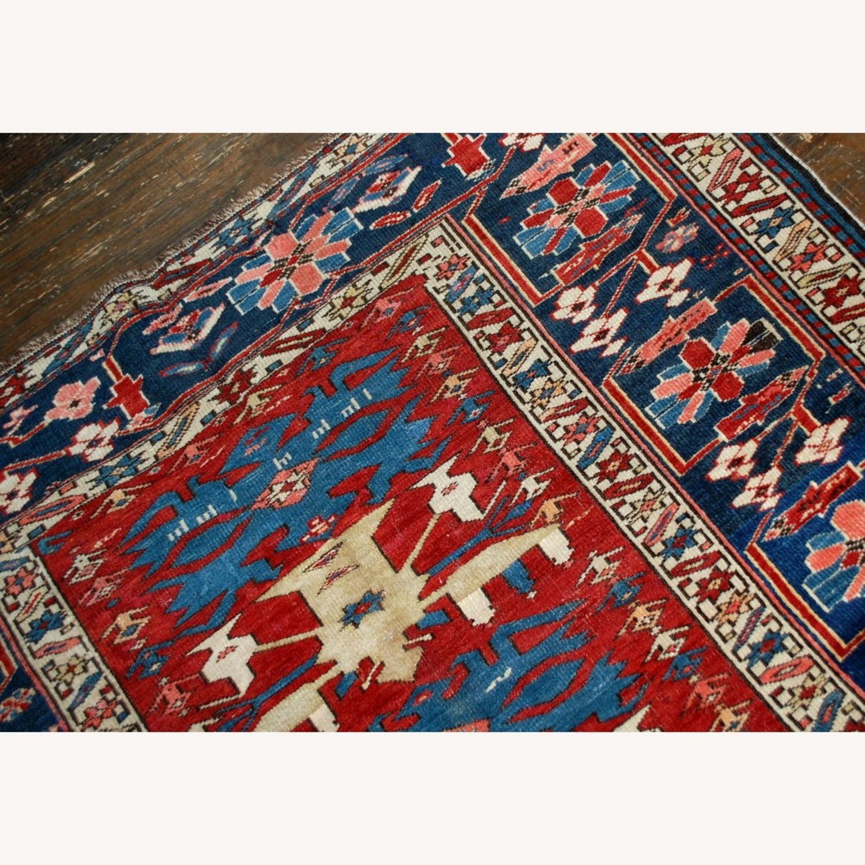 Handmade Antique Caucasian Azerbaijani Shirvan Rug - image-12