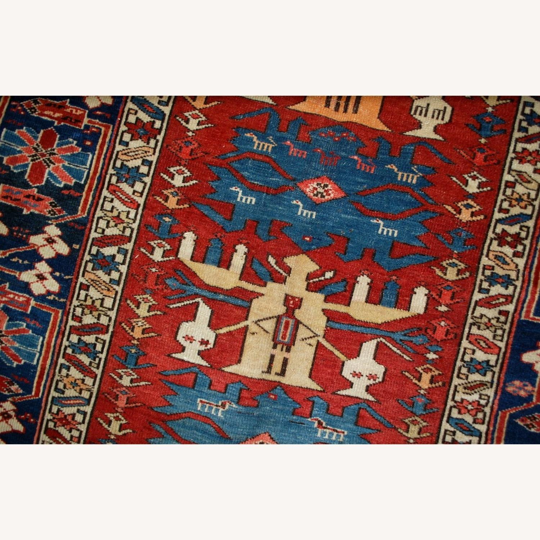 Handmade Antique Caucasian Azerbaijani Shirvan Rug - image-9