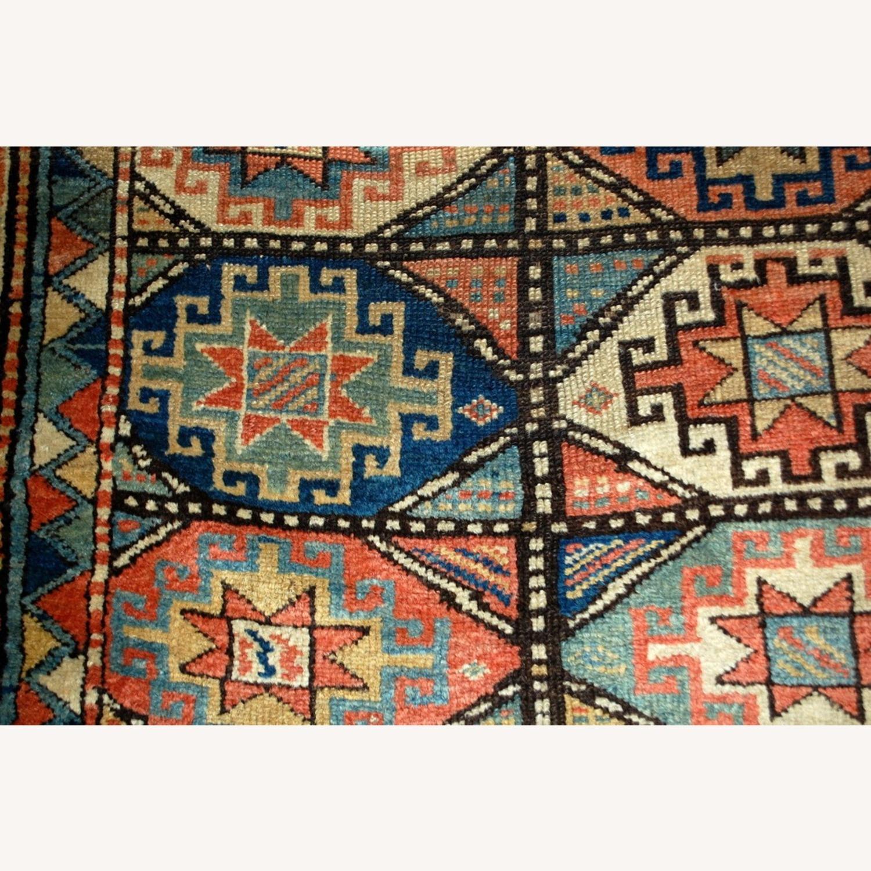 Handmade Antique Caucasian Kazak Mohan Rug - image-8