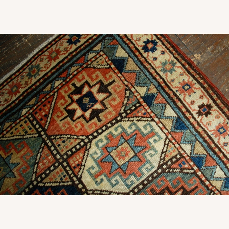Handmade Antique Caucasian Kazak Mohan Rug - image-5