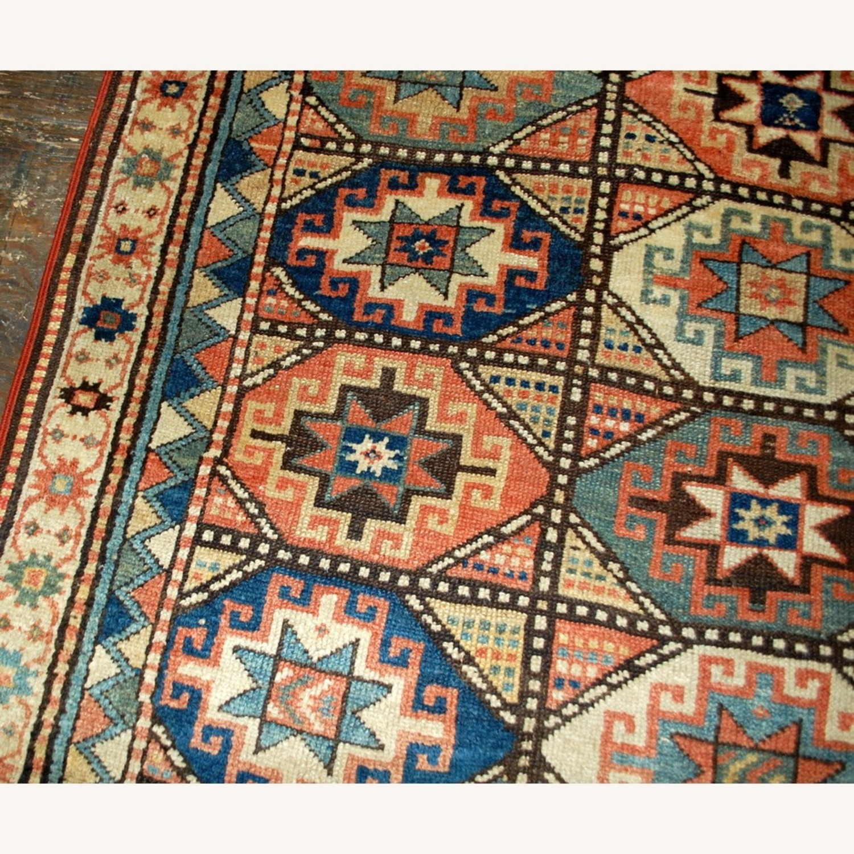 Handmade Antique Caucasian Kazak Mohan Rug - image-10