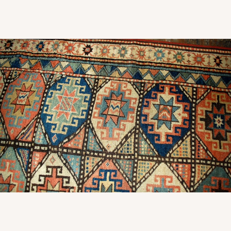 Handmade Antique Caucasian Kazak Mohan Rug - image-9