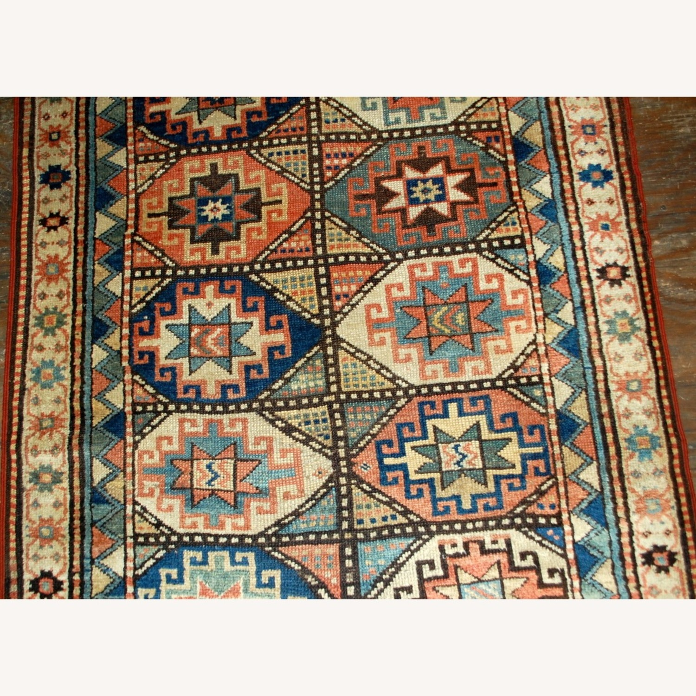 Handmade Antique Caucasian Kazak Mohan Rug - image-11