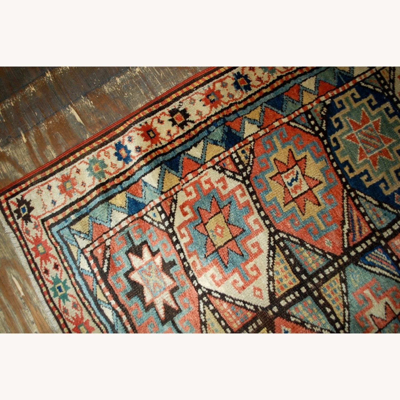 Handmade Antique Caucasian Kazak Mohan Rug - image-7