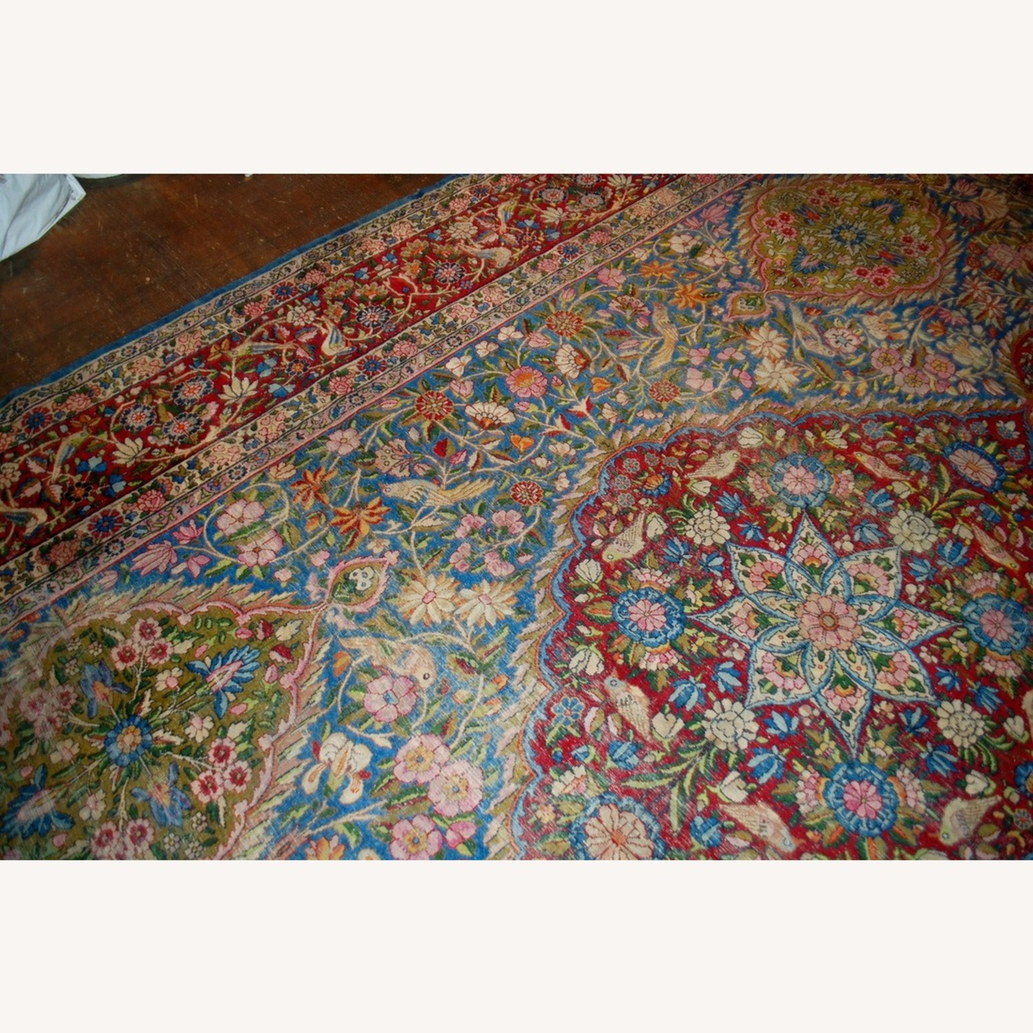 Hand made Antique Persian Yazd Rug - image-3