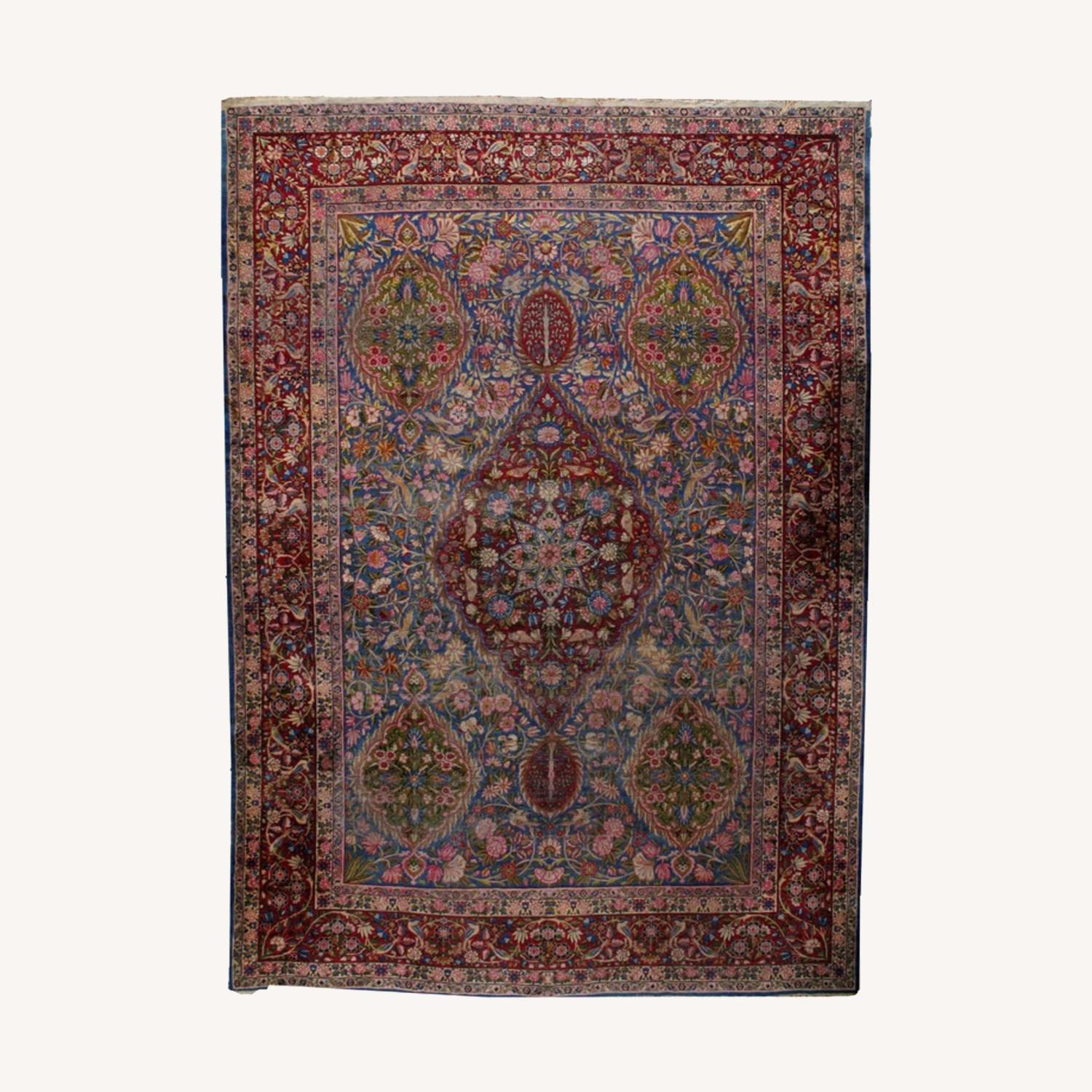 Hand made Antique Persian Yazd Rug - image-0