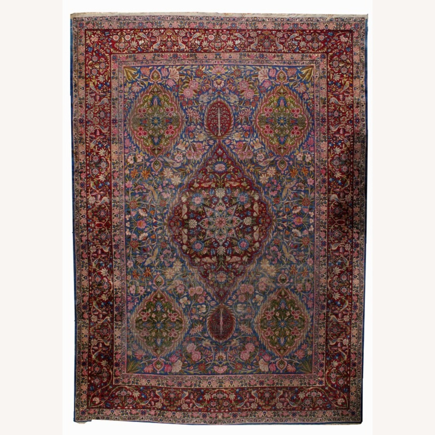 Hand made Antique Persian Yazd Rug - image-1