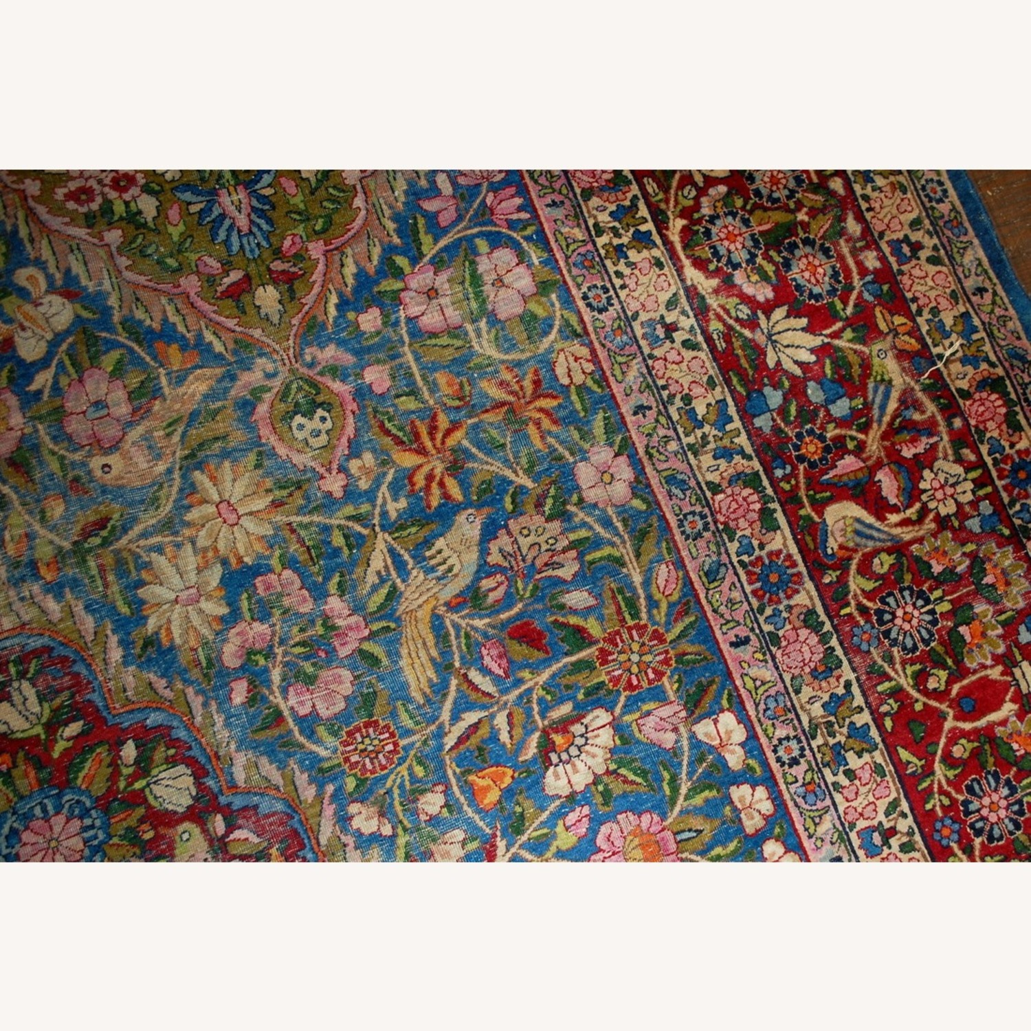 Hand made Antique Persian Yazd Rug - image-12