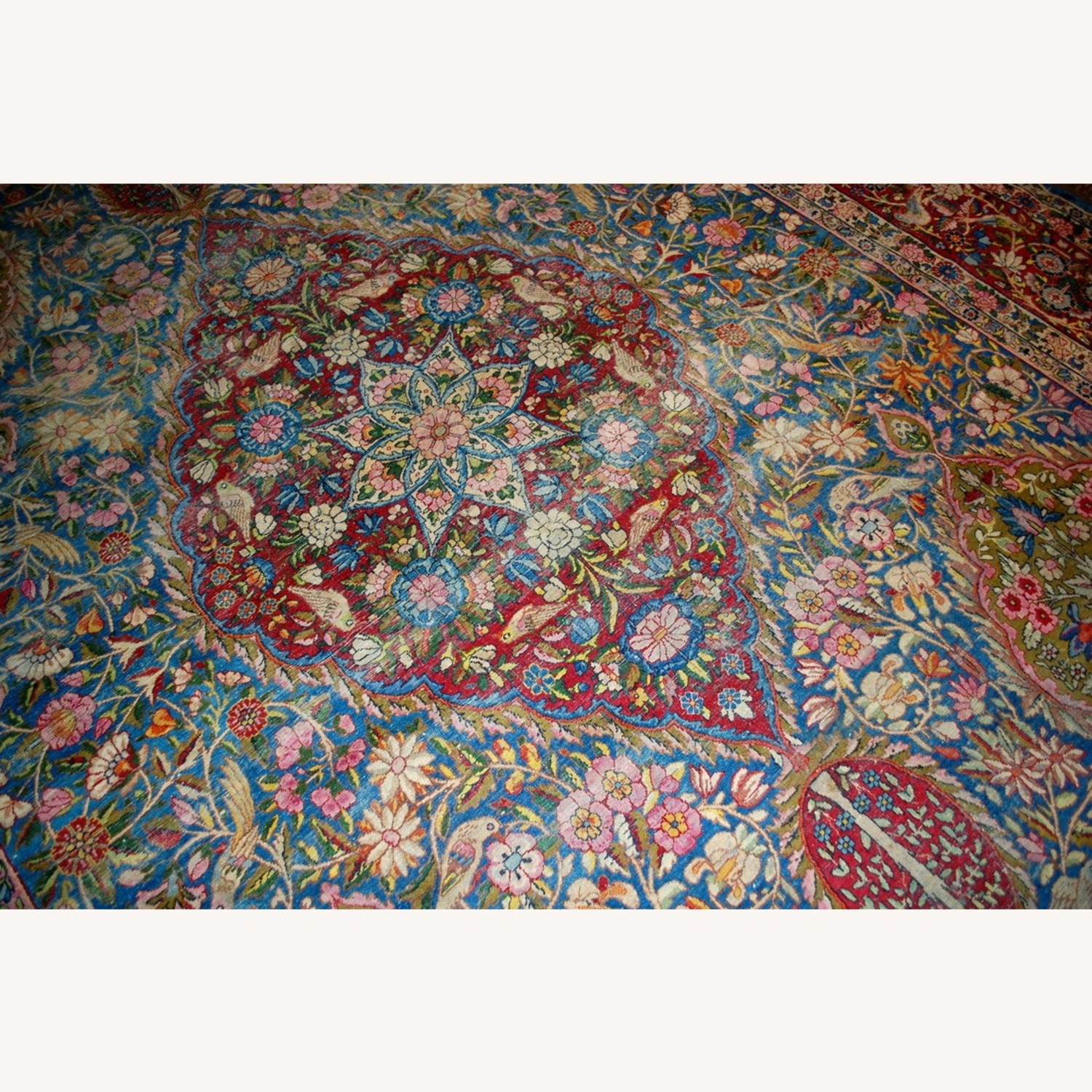 Hand made Antique Persian Yazd Rug - image-11