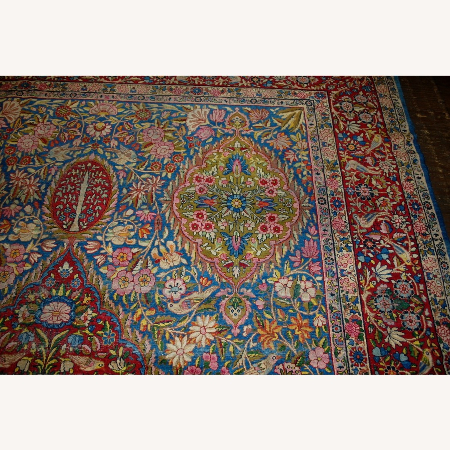 Hand made Antique Persian Yazd Rug - image-8