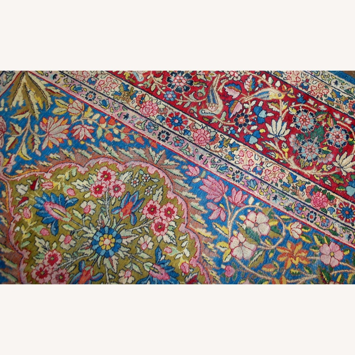 Hand made Antique Persian Yazd Rug - image-4