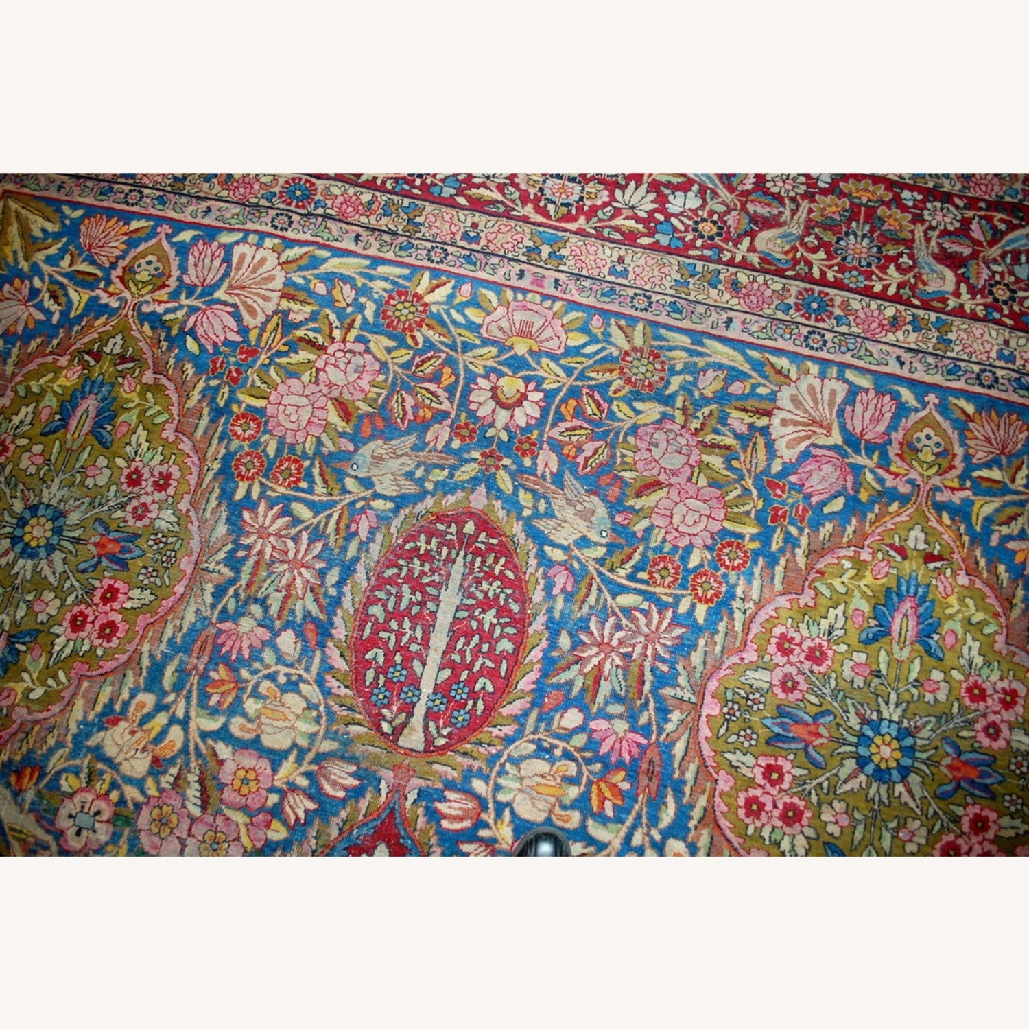 Hand made Antique Persian Yazd Rug - image-9