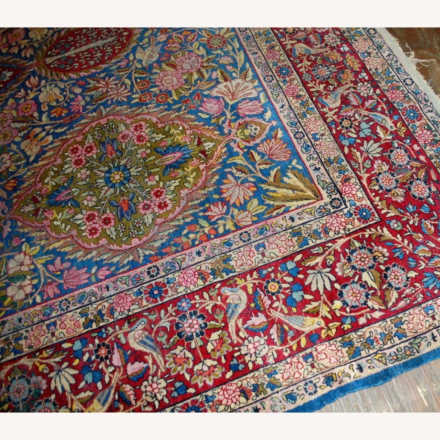 Hand made Antique Persian Yazd Rug - image-6