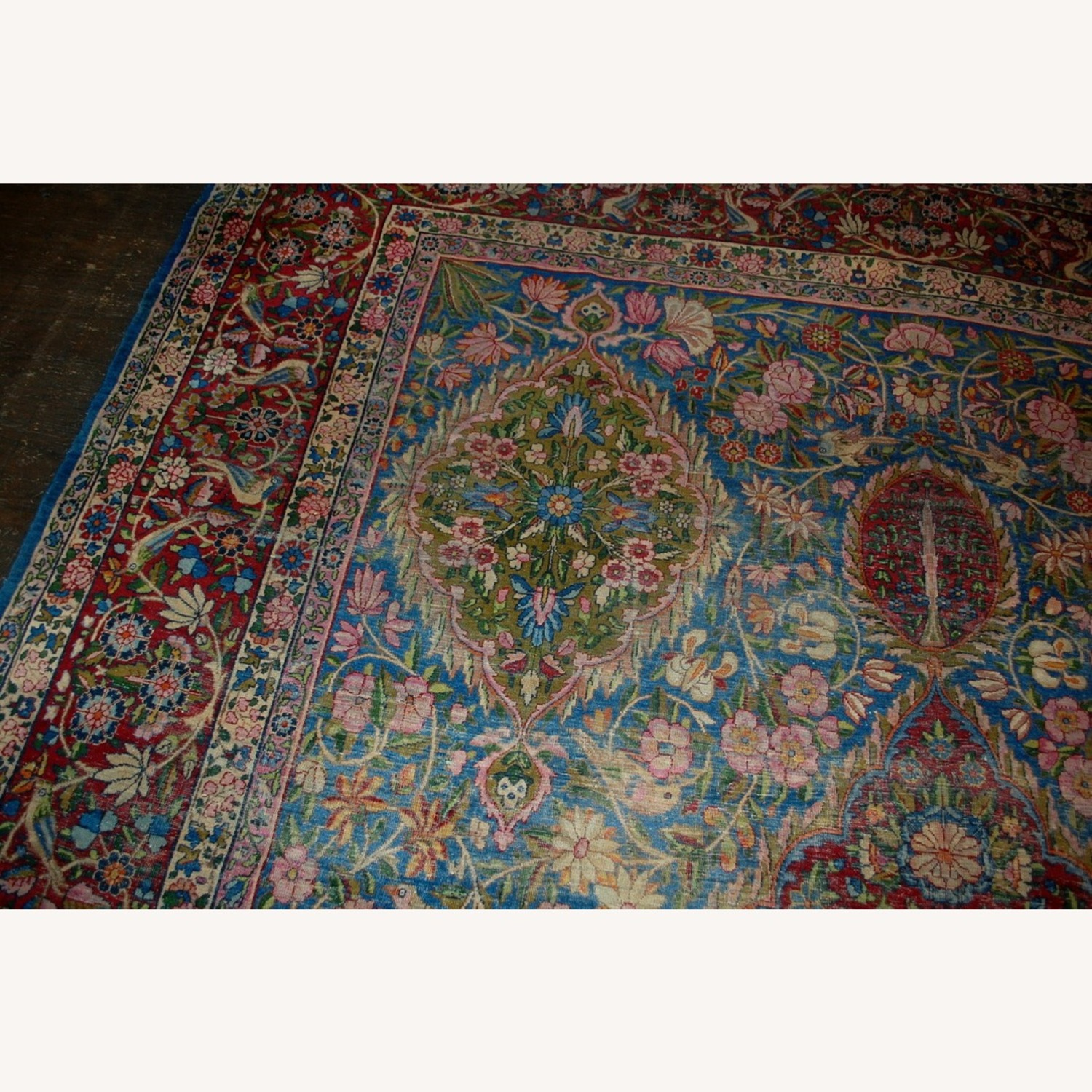 Hand made Antique Persian Yazd Rug - image-5