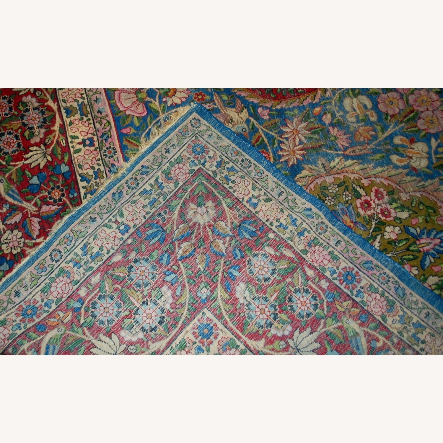 Hand made Antique Persian Yazd Rug - image-2