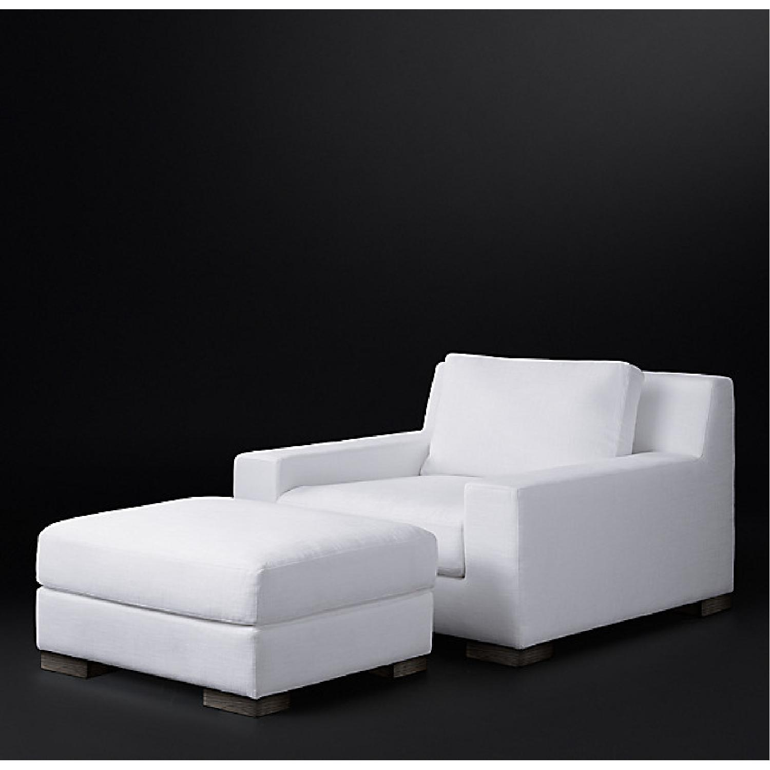 Restoration Hardware Modena Chairs with Ottomans Set - image-0