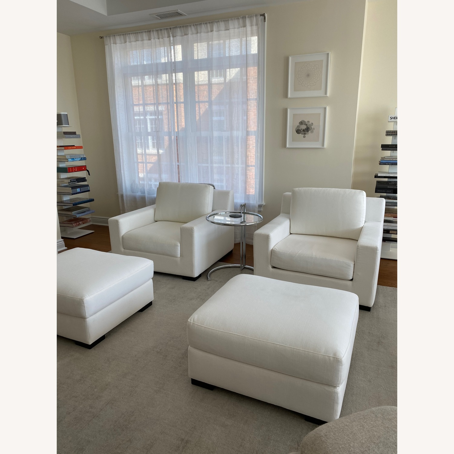 Restoration Hardware Modena Chairs with Ottomans Set - image-3