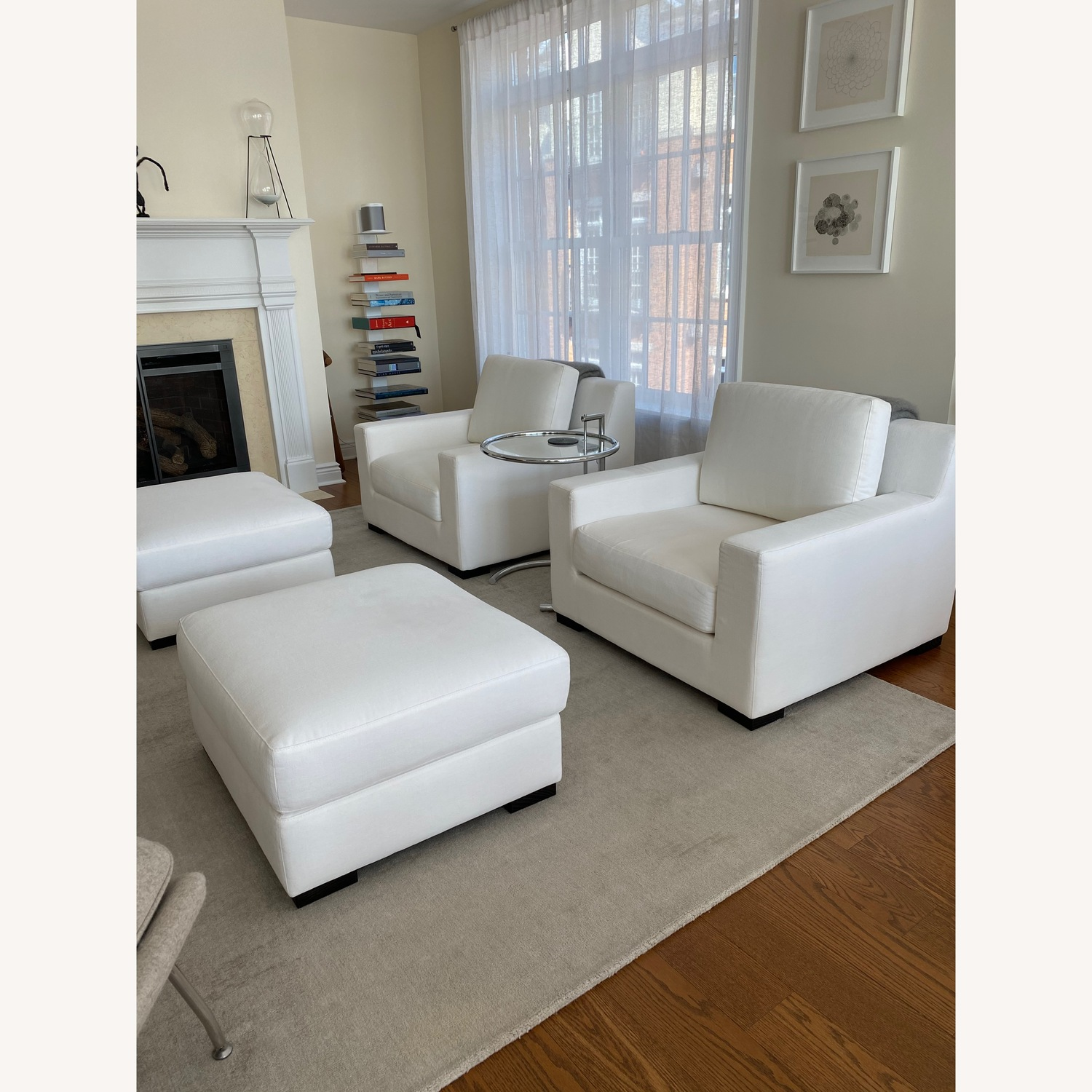 Restoration Hardware Modena Chairs with Ottomans Set - image-1