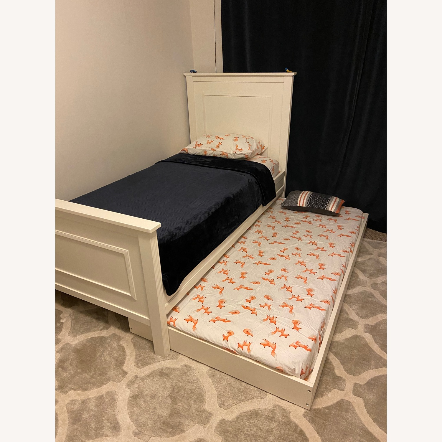 Pottery Barn Kids Fillmore Twin Bed and Trundle - image-1