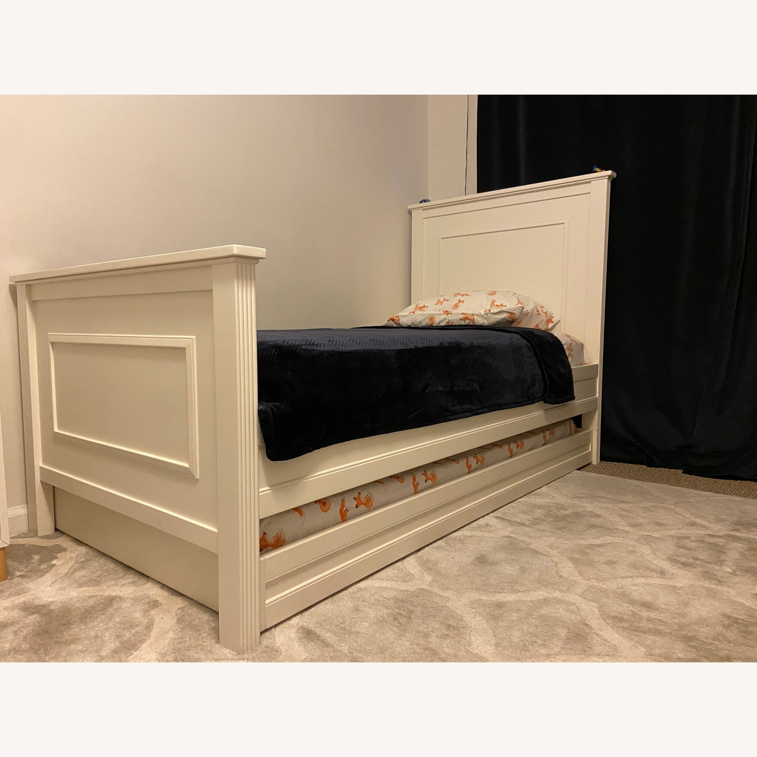Pottery Barn Kids Fillmore Twin Bed and Trundle - image-9