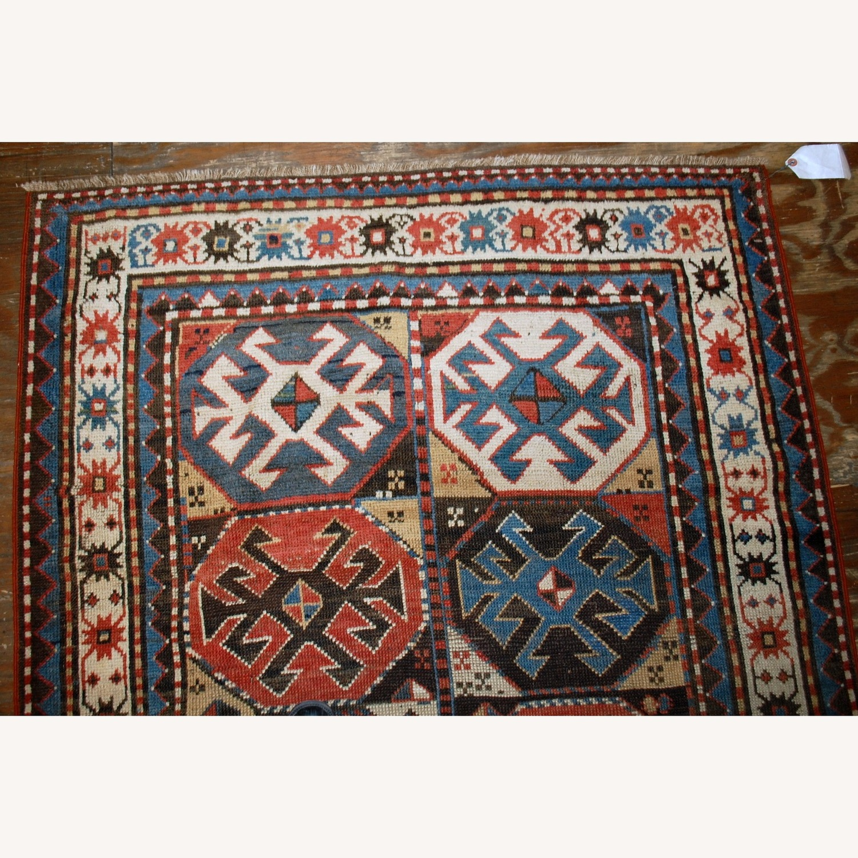 Handmade Antique Caucasian Kazak Mohan Rug - image-6