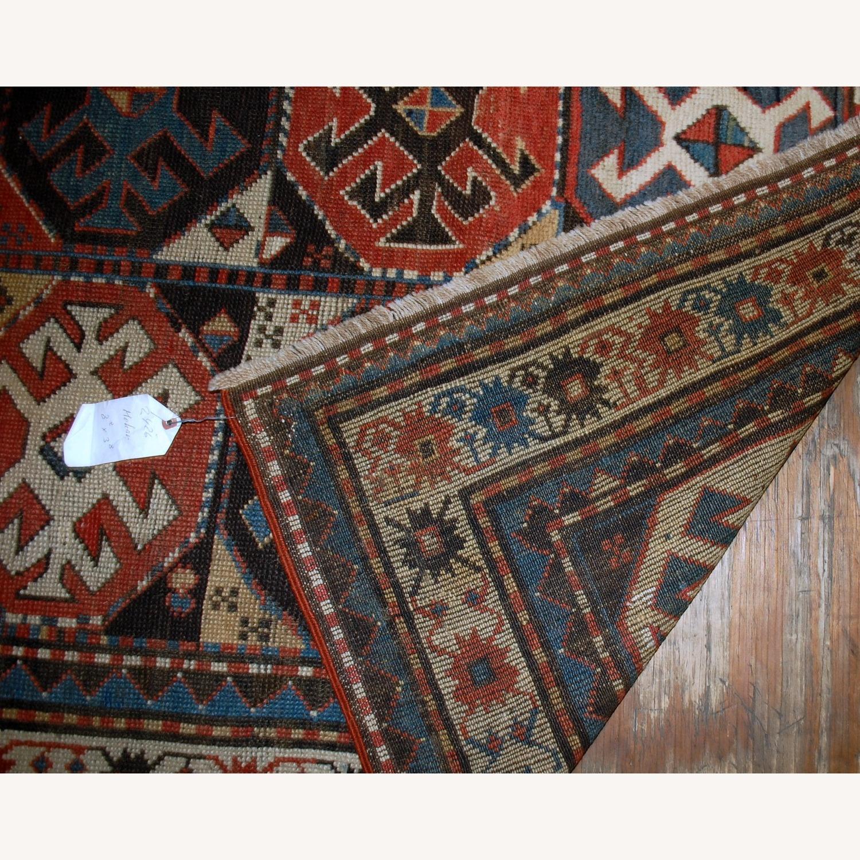 Handmade Antique Caucasian Kazak Mohan Rug - image-3