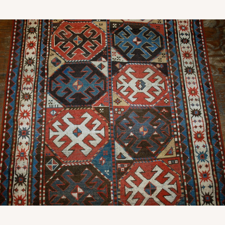 Handmade Antique Caucasian Kazak Mohan Rug - image-4