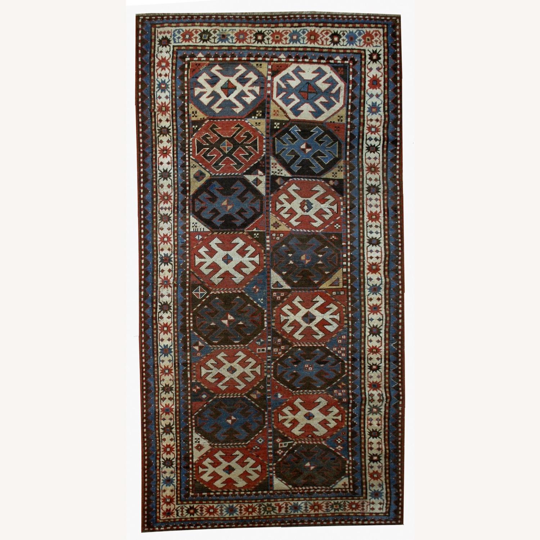 Handmade Antique Caucasian Kazak Mohan Rug - image-1