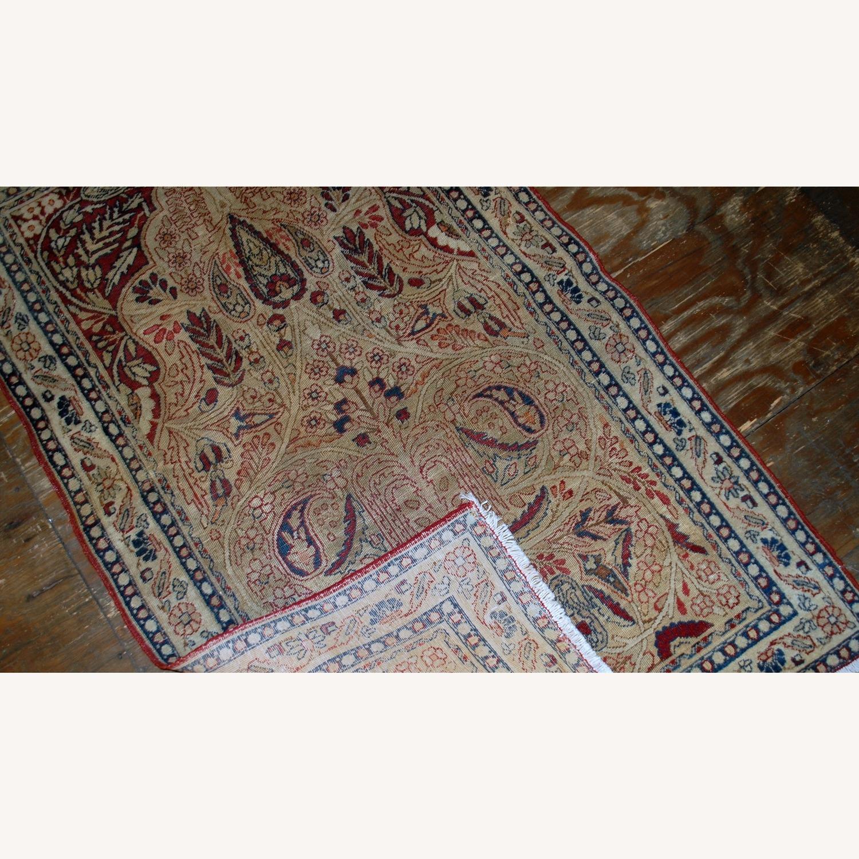 Handmade Antique Prayer Persian Kerman Lavar Rug - image-2