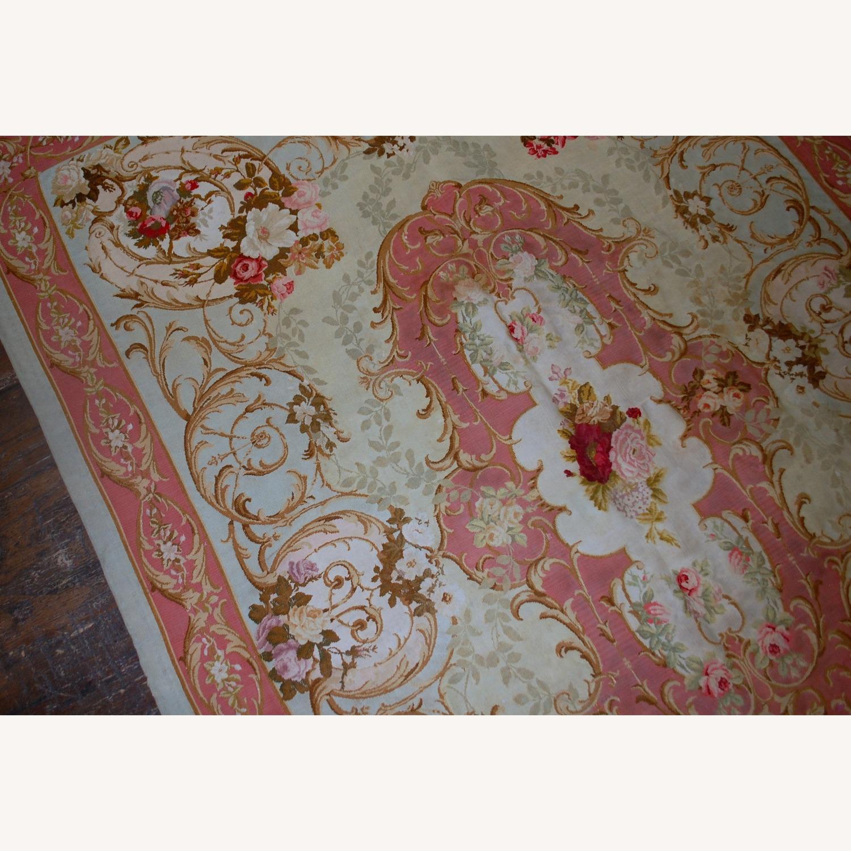 Handmade Antique French Aubusson Napoleon Rug - image-3