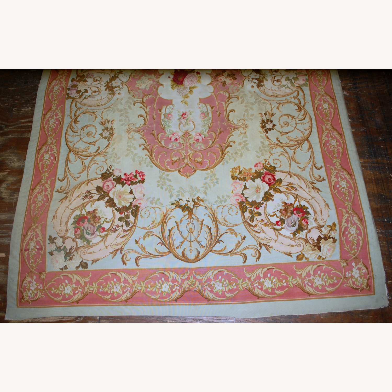Handmade Antique French Aubusson Napoleon Rug - image-5