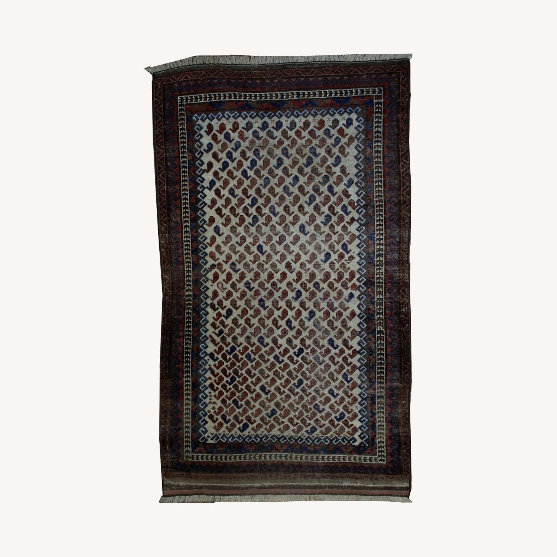 Handmade Antique Afghan Baluch Rug - image-0