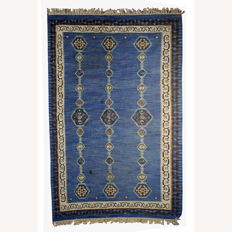 Handmade Antique Indian Dhurri Kilim - image-1