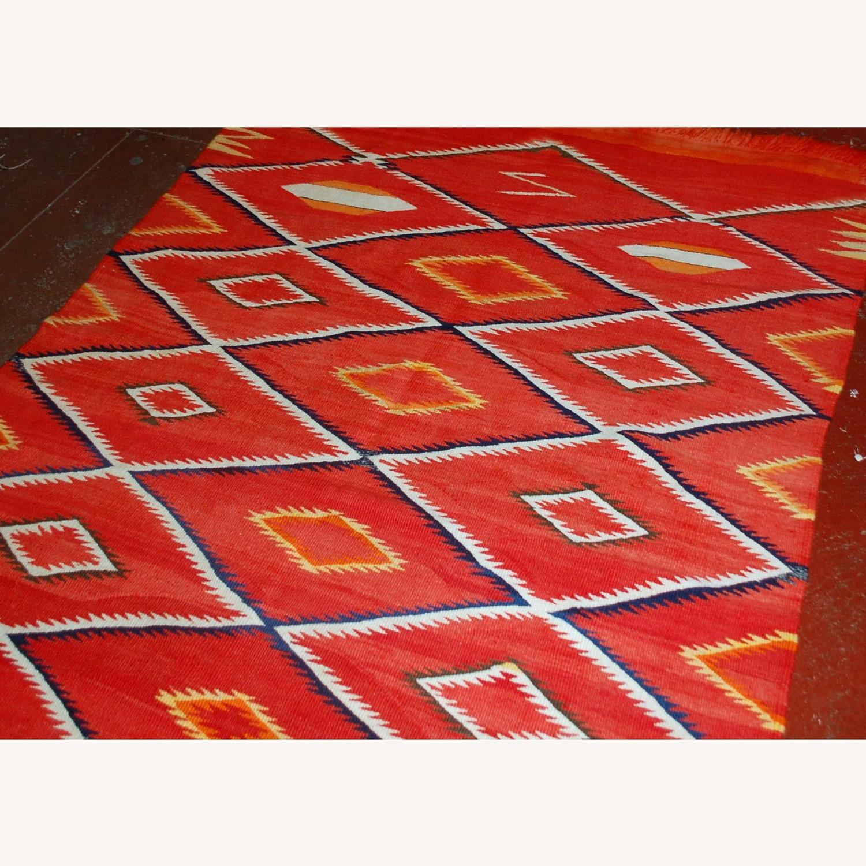 Handmade Antique Native American Navajo Blanket - image-3