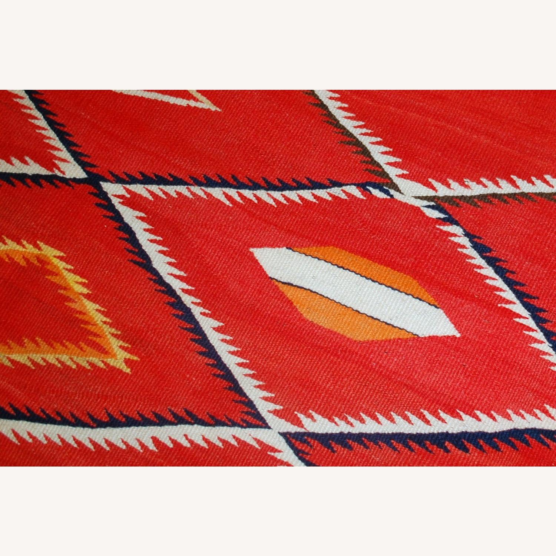 Handmade Antique Native American Navajo Blanket - image-2