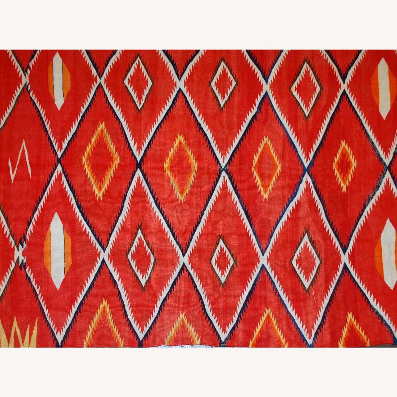 Handmade Antique Native American Navajo Blanket - image-5
