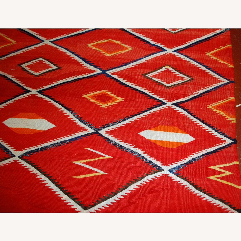 Handmade Antique Native American Navajo Blanket - image-7