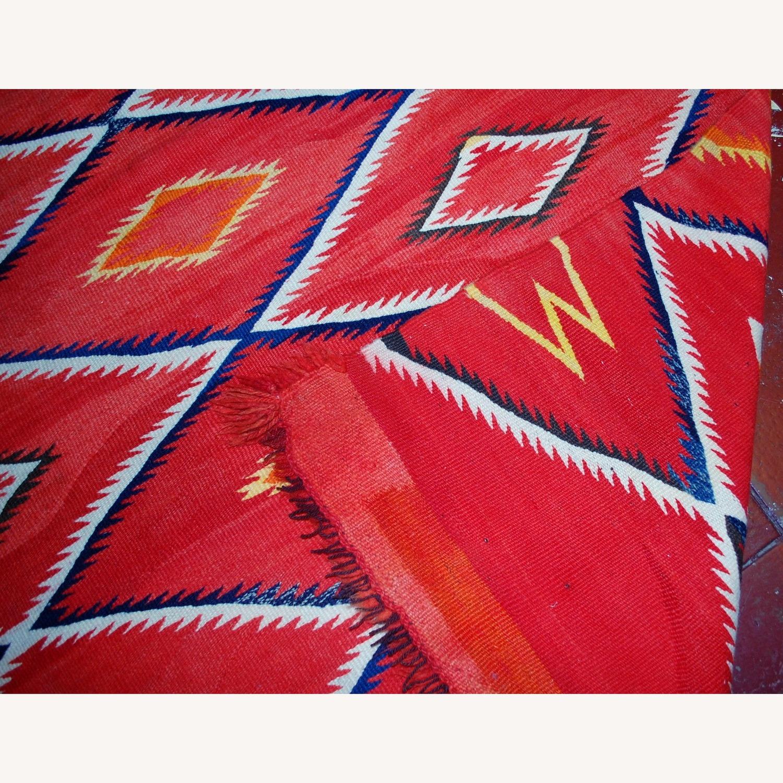 Handmade Antique Native American Navajo Blanket - image-10