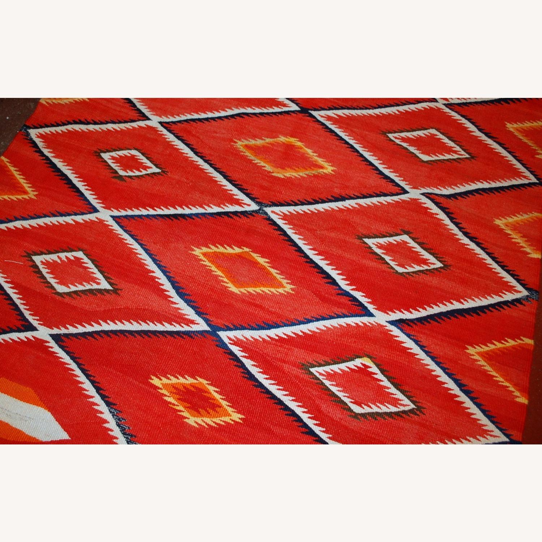 Handmade Antique Native American Navajo Blanket - image-8