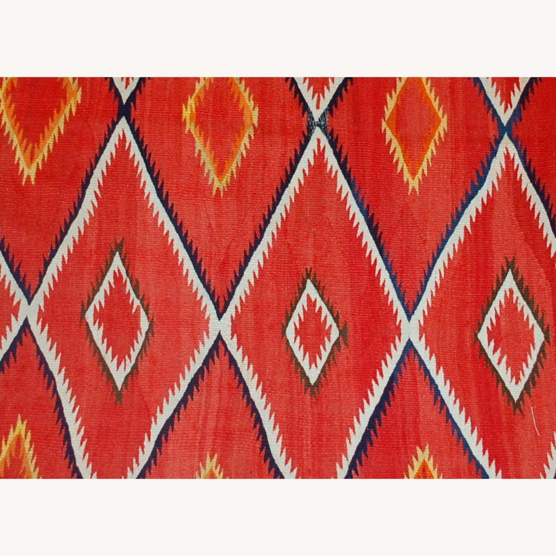 Handmade Antique Native American Navajo Blanket - image-4