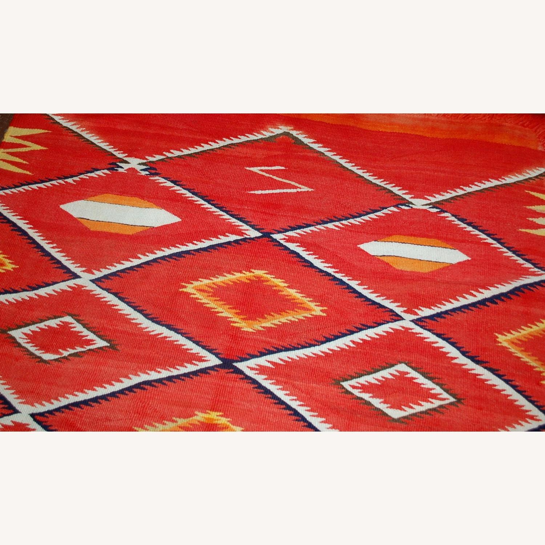 Handmade Antique Native American Navajo Blanket - image-6