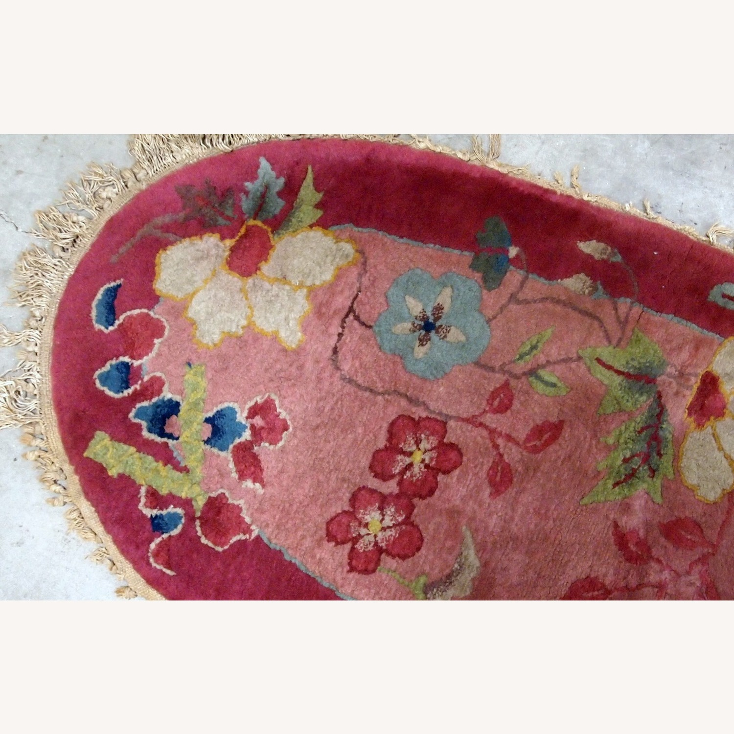 Handmade Antique Art Deco Chinese Rug - image-4