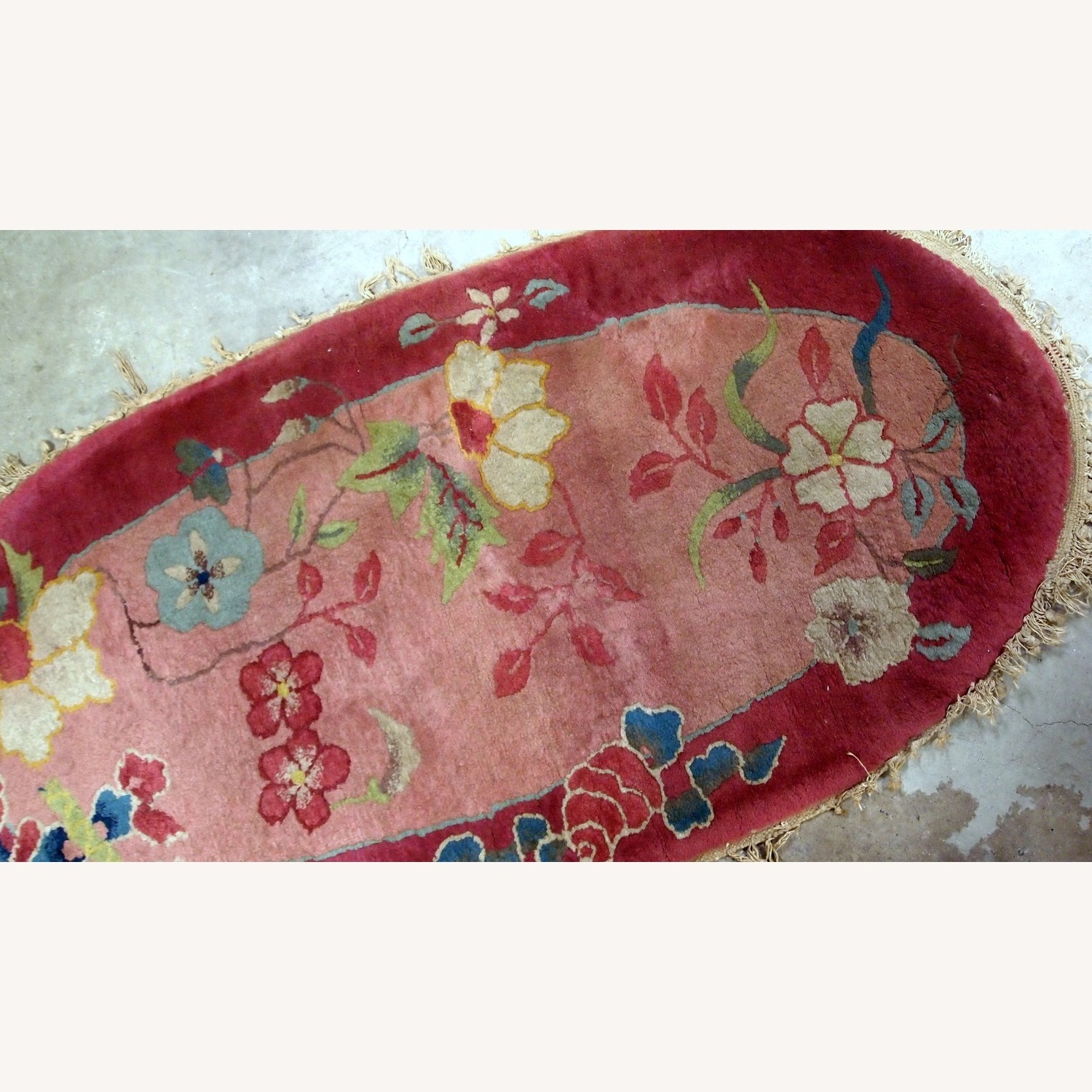 Handmade Antique Art Deco Chinese Rug - image-2